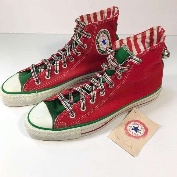 Converse Christmas Sneakers Hi Top Red 8 9c391aa4c
